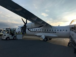 コウノトリ但馬空港 ATR42-600型機