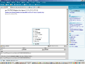 [08.03.04]Windows Live WriterのSpaces以外のブログで表示されるF2キーの隠しメニュー
