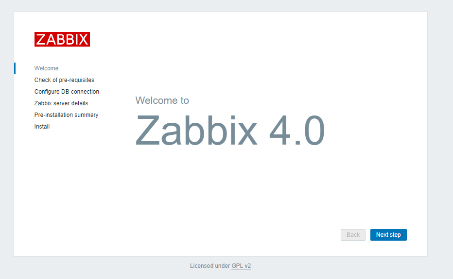 Welcome to Zabbix 4.0