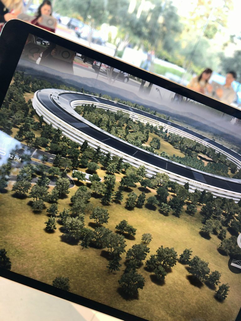 Apple Park Visitor Center AR iPad