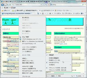 [H22.10.31]IEのみoyasu.info文字化け