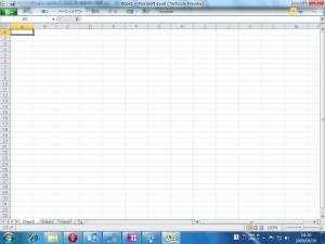 [H21.8.30] Office Excel 2010 TP 日本語版 起動直後