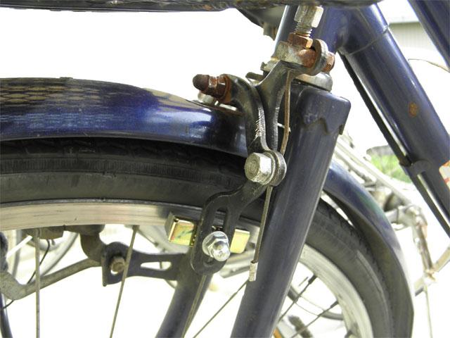 自転車の前輪ブレーキ交換 ...