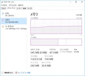 ConoHa for Windows メモリ使用量