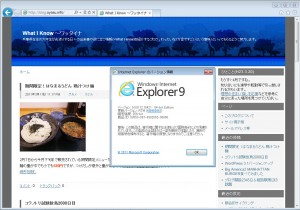 Internet Explorer 9 日本語