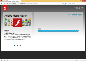 [H25.10.08]Adobe Flash Player 11.9.900.117 Download Page Step2