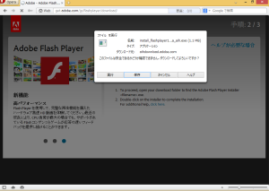 [H25.10.08]Adobe Flash Player 11.9.900.117 Download Page Step2-A