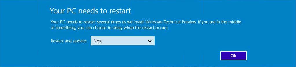 Windows 10 - Your PC needs to restart