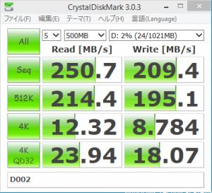 [H26.10.25]Crystal Disk Mark on IDCF