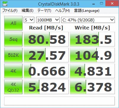 [H26.11.12]CrystalDiskMark System Drive