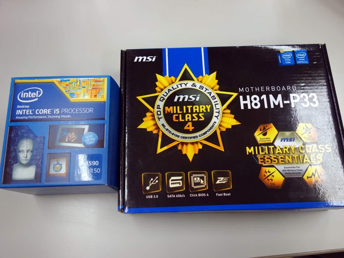 [H27.04.10]H81M-P33 Core i5 4590