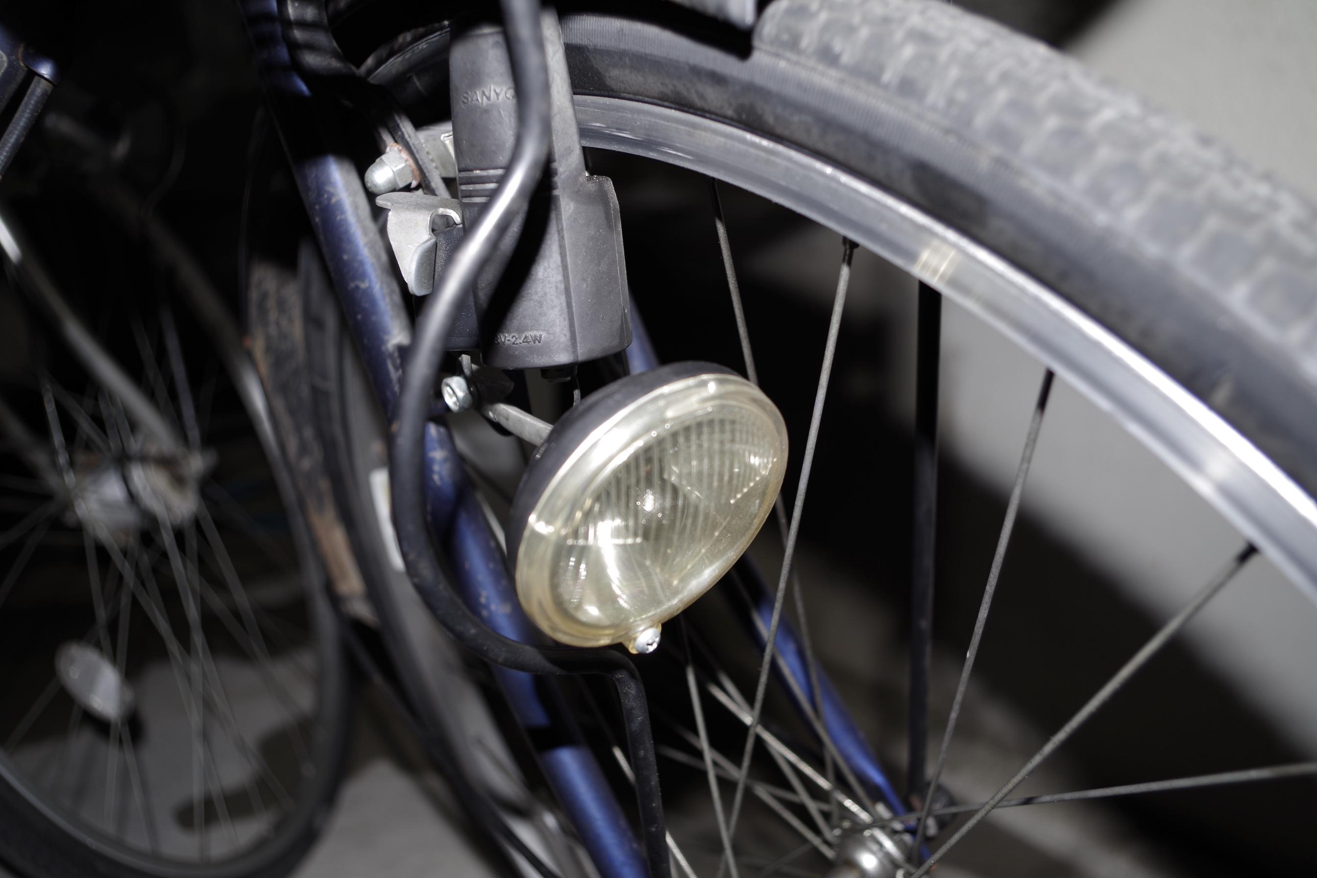 自転車のライトをLEDに交換 ...