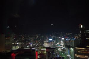 神戸市役所の展望台から山方面