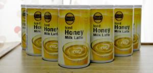 TULLY'S COFFEE Iced Honey Milk Latte