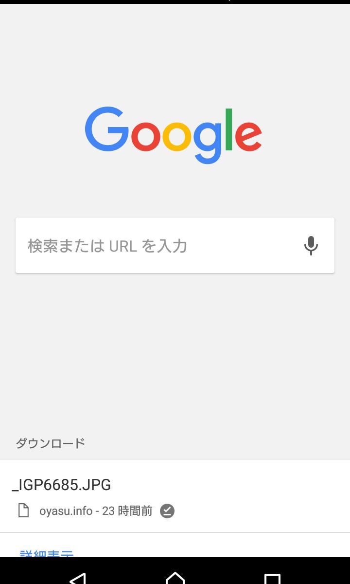 android 版 chrome 56 で新しいタブに「ダウンロード」が表示、無効化に