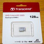 Trancend microSDXC TS128GUSD300S を購入しました
