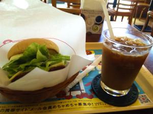 [H23.05.14]モスバーガーモーニング野菜チーズバーガー