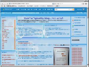[H21.6.10] Safari 4 文字化けしたブログ